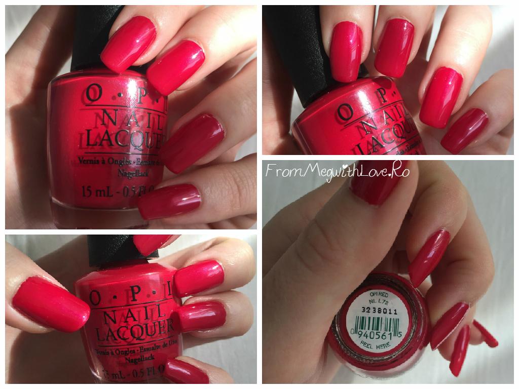 oja, opi, red, oja rosie, nail polish