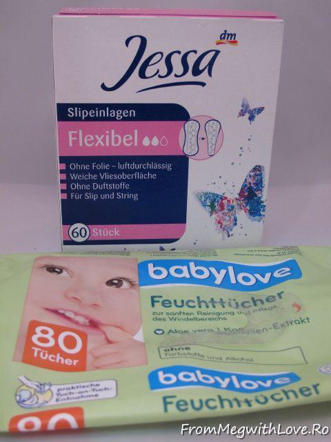 jessa, babylove, absorbante, absorbante zilnice, pantyliners
