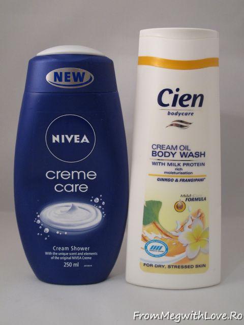 gel de dus, Nivea, Nivea creme care, Cien, body wash, lidl