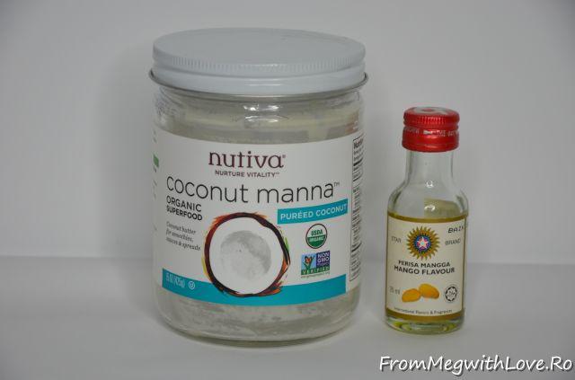 Produse culinare consumate - Coconut manna şi esenţă de mango
