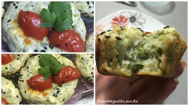 Brioşe aperitiv cu broccoli şi brânză - Reţetă în imagini