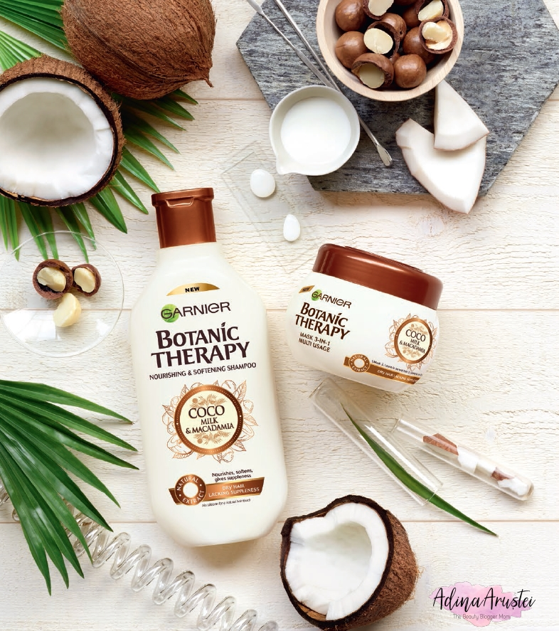 Noutăţi Garnier: gama Botanic Therapy Coco Milk & Macadamia