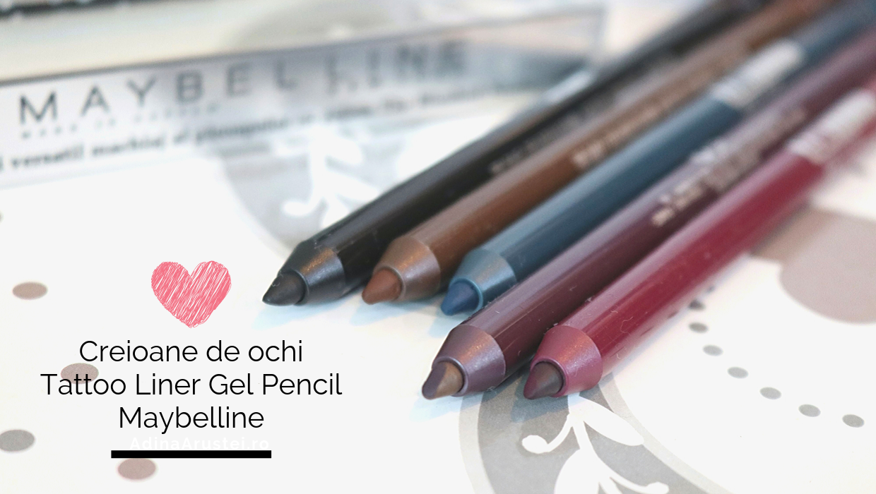 Creioane de ochi Tattoo Liner Gel Pencil – Maybelline
